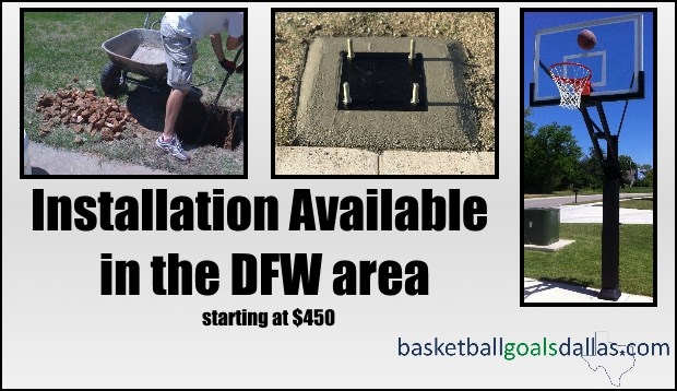Outdoor In Ground Basketball Hoops Sale In Dfw